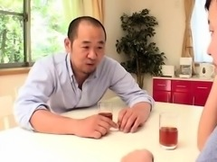 Stacked Japanese wife indulges in hardcore cuckold fucking