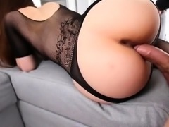 Sensual brunette beauty expresses her passion for anal sex