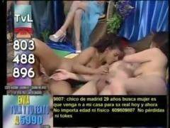 Spanish live sex on TV