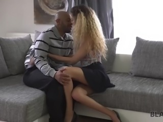 BLACK4K. Cleaning is over because huge cock penetrates juicy pussy