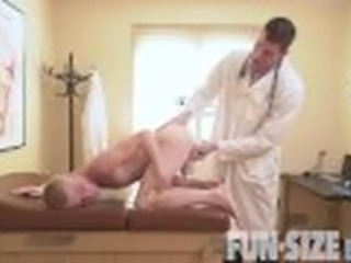 'FunSizeBoys - Giant hung doctor fucks tiny blond twink bareback'