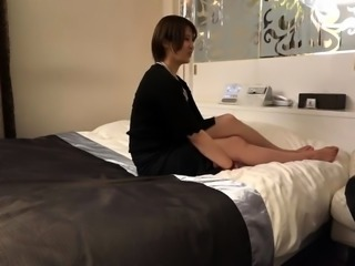 Dazzling Oriental mom enjoys an intense fucking on the bed