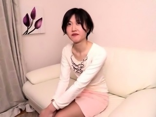 Skinny Japanese teen needs a hard cock filling her wet peach