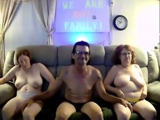 Two curvy mature wives share a cock and play with sex toys