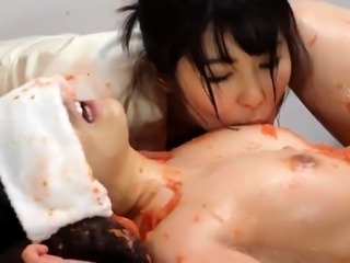 Sexy Asian babe treated to a wild fucking on a massage table