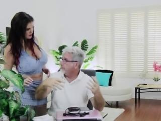 Coralyn Jewel sucking Jay Crews big cock and makes him cum