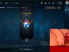 My new toy makes me cum multiple times while playing League of Legends #12 Luna