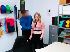 Night shift employee busted and fucked for stealing