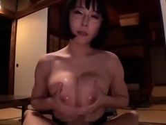 Busty Asian wife in stockings gets rammed deep and creampied