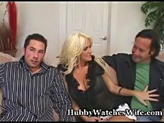 Sissy hubby watches horny wife  free