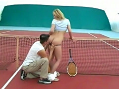Cute teen sex in tennis court free