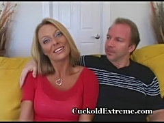 Seductive cougar feasts on young cock  free