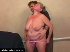 Matures fucking into the boobs