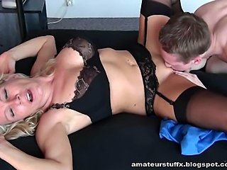 german mature and her sweet18yr old lover