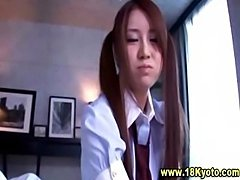 Sweet asian teen schoolgirl