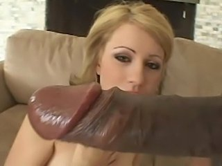 Petite girl smoking and taking two cocks