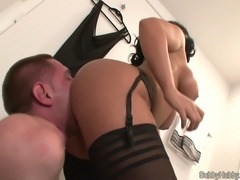 slave licking mistress's ass