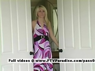 Vicki adored teen blonde toying free