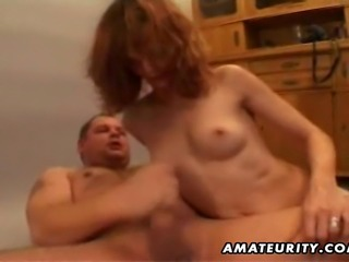 A nasty redhead amateur Milf homemade hardcore action with doggystyle and...