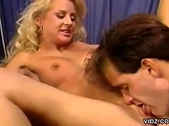 blonde chick gets banged in her pussy and ass inside nurse room