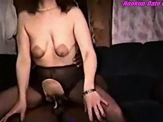 Big nipple amateur wife enjoys bbc homemade