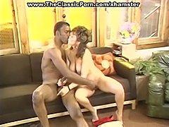 White retro pussy attacks black rod