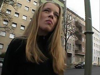 European amateur teen with big natural tits