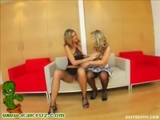 Two blondes get assfucked by two guys
