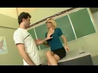 Mature Teacher Educating Students