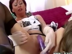 Mature lady pussy penetrated by dildo