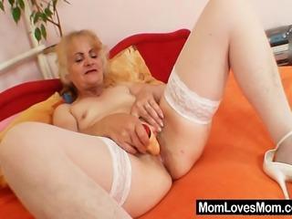 Mature pussy dildo masturbation video