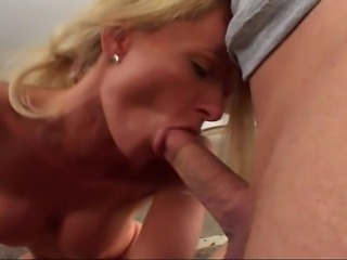 Blonde slut was surprised seeing me entering room… But nothing my friend can't settle, so a few minutes later I joined them in nasty gang bang fuck!