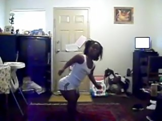 Thick black midget dancing