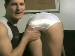 White satin panties back videos