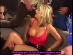 Horny Vicky handles a bunch of  ... free