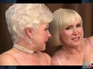 Blonde granny threesome