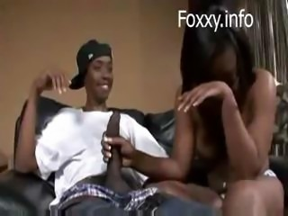 Black Girl Rides Her Boyfriends Hard Long Shaft