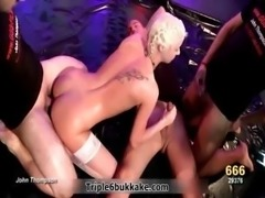 Skanky blonde skinny chick gets fucked part5
