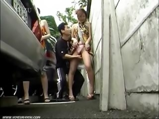 Street parking blowjob video