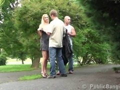 Public sex with a gorgeous naked girl in public PART 1