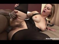Mature bitch got a hairy pussy-1