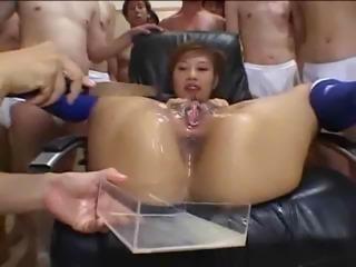 Crazy Asian Pussy Bukkake