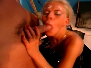 This kinky slut just adores huge hard cock up her hungry snatch.