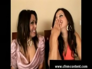 Brunettes laugh at dicks free