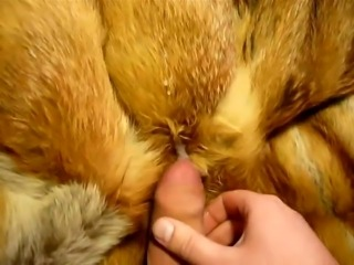Mother is out, cumming on her fox fur again