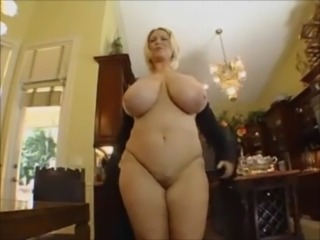 Horny BBW blonde gets nailed by ... free