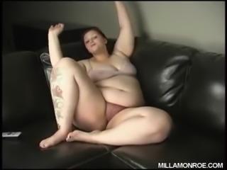 Milla Monroe with dildo