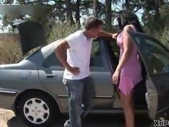 Horny brunette wife loves masturbating part2