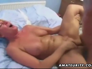 Naughty blonde amateur housewife homemade anal fucking with blowjob and huge...