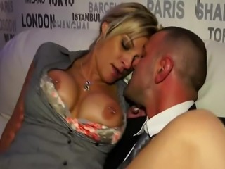 Pornstars being fucked in public as they wear their office attires